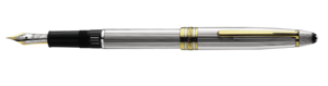 Montblanc Meisterstuck Sterling Silver Fountain Pen 11747 [a531]
